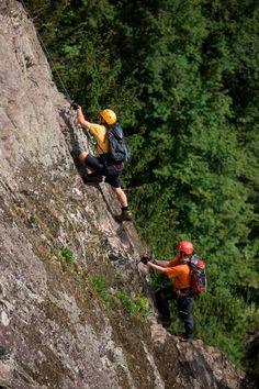 Klettersteig Astegg Climbing Wall, Rock Climbing, Forest Trail, Paths, Hiking, Tours, Adventure, Summer, Travel