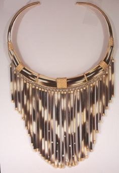 quill necklace w/ gold tips