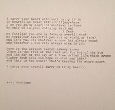 EE Cummings ich trage dein HerzGedicht auf von WhiteCellarDoor, $20.00