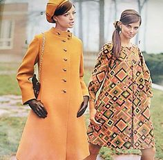 Bright mod fashions in the J.C. Penney Fall/Winter 1967 catalog. (♥)