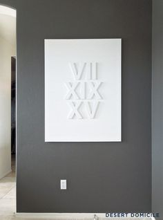 DIY Roman Numeral Wedding Date Art | Desert Domicile