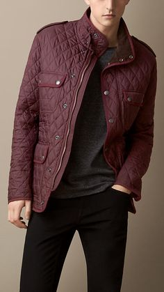 Burberry Brit Diamond Quilted Field Jacket (guardians of the galaxy anyone?)