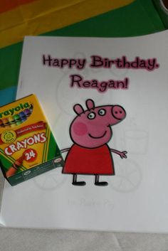 Peppa Pig Party Favors - Peppa Pig Coloring Book