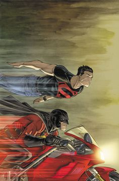 Superboy and Red Robin. Kon-el and Tim Drake/Wayne. The most realistic friendship in DC in the last 15 years. Seriously these two are always getting into trouble with each other, and because of each other. Dc Comics Art, Marvel Dc Comics, Anime Comics, Comic Book Artists, Comic Artist, Comic Books Art, Beast Boy, Tim Drake Red Robin, Robin Dc