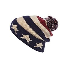 fe55f13c248 Red stars and stripes beanie Hipster Hat