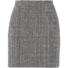 Proenza Schouler Cotton-blend tweed mini skirt ($275) ❤ liked on Polyvore