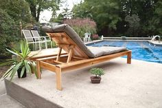 Build your own outdoor lounge chair. Just need the pool!