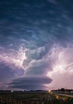 Supercell seen in Broken Bow, Nebraska, USA