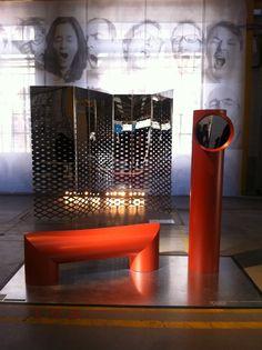 Exposition « L'âge du Faire » par Particule 14 -  Miroir urbain, paravent urbain, Normal Studio & la Tôlerie Forezienne