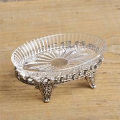 New French Country Shabby Chic Bathroom Ornate GLASS SOAP DISH Holder  #CountryHouse