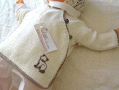 Baby Cross Over Top with Contrasting Trim