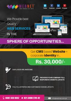 Get Control of Your Website in Your Own Hands with a Content Management System.Our ‪#‎Web‬ ‪#‎Developers‬ Are There to Offer You ‪#‎Custom‬ ‪#‎CMS‬ ‪#‎Websites‬..!!  For Contact us : 021-34982742 www.webnet.com.pk info@webnet.com.pk