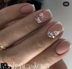 Colorful Nail Designs, Cute Nail Designs, French Nails, Nail Manicure, Gel Nails, Nagellack Trends, Bride Nails, Wedding Nails Design, Nagel Gel