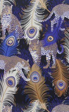 Papier peint Leopardo. Découvrez les nouveautés Matthew Williamson sur notre site.