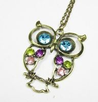 Sparkly Owl Necklace
