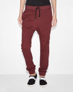 We've got one more left of the Burgundy Drop Crotch in a size 34! Grab it while it's still available from http://veernyc.com/collections/bottoms/products/burgundy-drop-crotch #style #fashion #streetwear