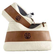 monogrammed cosmetic bag $28