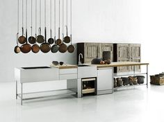 Stainless steel kitchen / outdoor kitchen OPEN by Boffi design Piero Lissoni
