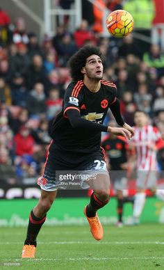 Marouane Fellaini of Manchester United in action during the Barclays Premier League match between Stoke City and Manchester United at Britannia Stadium on December 26, 2015 in Stoke on Trent, England.
