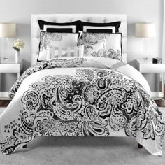 Add a pop of color and we'd be golden! Deliah Reversible Comforter Set - BedBathandBeyond.com