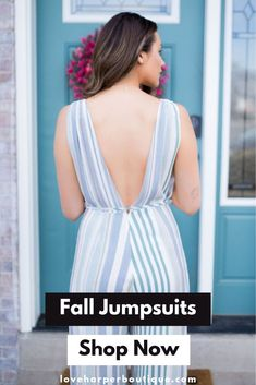 Fall Jumpsuits for Women. Shop Now! The Candy. Check out our casual fall jumpsuits for women! Our Candy jumpsuit is the perfect option to add a splash of color and fun to your springtime wardrobe! With low-cut sides and a deep v neckline, it will mak Autumn Fashion Casual, Casual Fall Outfits, Curvy Fashion, Boho Fashion, Fashion Group, Fashion Outfits, Fashion Trends, Fall Travel Outfit, Travel Outfits
