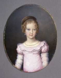 "tiny-librarian: "" Miniature of Marie Caroline of Austria, Crown Princess of Saxony, by Natale Schiavoni. She was the 8th child and 6th daughter of Francis II and his second wife, Maria Teresa of..."