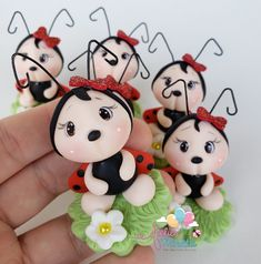Biscuits, Hello Kitty, Polymer Clay, Christmas Ornaments, Holiday Decor, Cold Porcelain Ornaments, Bees, Ladybugs, Miniatures