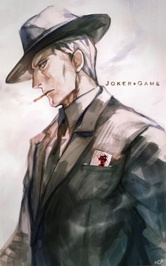 Lieutenant Colonial Yuuki from Joker Game Anime Guys, Anime Love, Manga Anime, Joker Game Anime, Game Character, Character Design, Sir Crocodile, Dark Color Palette, Book Characters