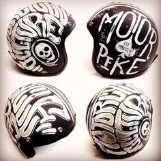 Artwork by Chiko's Pinstriping - www.motorpike.com - #motorpike #helmet #bandithelmets #motorcycle