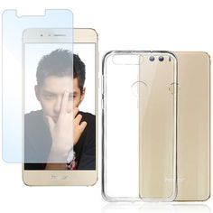 Tempered Glass + Silicone Case for Huawei Honor 8 Back Cover Front Glass Protection Clear - Zaluxis Shop Smartphone Display, Best Screen Protector, Handy Case, Original Design, Panzer, Iphone, Cover, Glass, Clear Phone Cases
