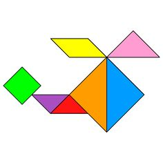 The solution for the Tangram puzzle #148 : Helicopter 2