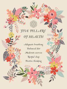 Bungalow Rose Mia Charro Yoga Five Shower Curtain Wellness Fitness, Health And Wellness, Holistic Nutrition, Health Tips, Mental Health, 5 Pillars, Shower Liner, Spiritual Wellness, Restorative Yoga