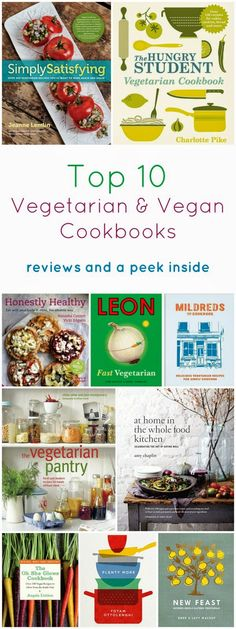 The best veggie and vegan cookbooks. Tried and tested. Great for gifts or a treat for yourself.