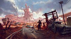 ArtStation - Into the Wasteland, Karl Schulschenk