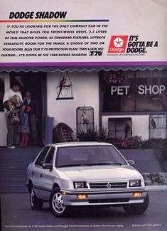 This is a 1988 Dodge Shadow - my first car was an '87 - but looked just like this, silver and also had a sunroof.
