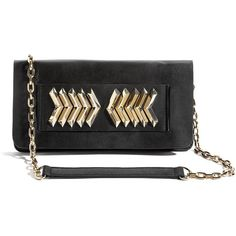 GUESS by Marciano Elin Kling for Marciano - Chevron Clutch ($174) found on Polyvore