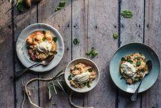 Recipe: Rhubarb, Blood Orange and Almond Crumble