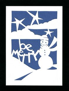 Holiday Card ~ hand-cut ~ pin to #papercut www.miscellanica.com