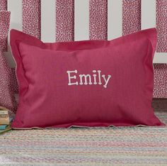 Solid Hot Pink Baby Pillow Sham