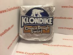 Crazy Food Dude: Review: Klondike Cookie Dough Swirl Ice Cream Bars