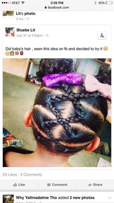 Cute idea for babys hair