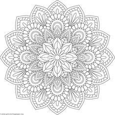 Flower Mandala Coloring Pages 08 Coloring Mandalas Mandala Malvorlagen Mandala Zum Ausdrucken Ausmalbilder Mandala