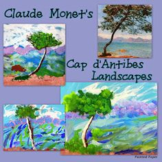 PAINTED PAPER: Monet's Cap d'Antibes