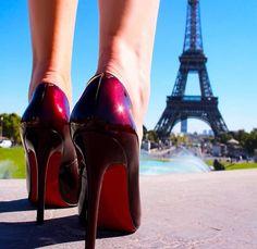 Red heels in Paris! Red Heels, Stiletto Heels, Christian Louboutin So Kate, Fancy Shoes, Hot High Heels, Killer Heels, Red Bottoms, Pumps, My Style