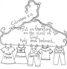 Colossians 3:12 Bible coloring page