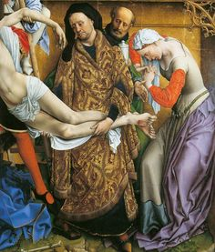 Rogier Van Der Weyden, master of Northern Renaissance, lived between years Famous masterpieces - Annunciation Triptych, The Annunciation, The Annunciation. Jan Van Eyck, Medieval Dress, Medieval Clothing, Historical Clothing, Medieval Fashion, Hieronymus Bosch, Guernica, Renaissance Paintings, Renaissance Art