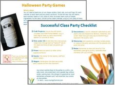 Halloween class party ideas help for classroom parents class halloween class party ideas help for classroom parents class party ideas halloween class party and free fandeluxe PDF