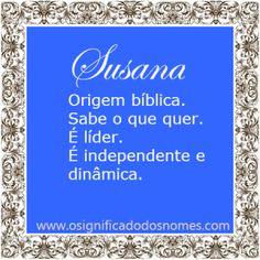 Significado do nome Susana   Significado dos Nomes