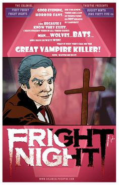 Fright Night, August 2013. Poster by Johnny Destructo