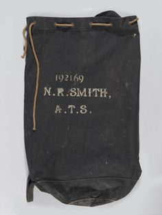 Canvas kit-bag issued in 1943 and used by N R Smith, Auxiliary Territorial Service